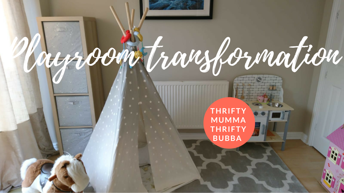Playroom transformation: How to save space in a small home